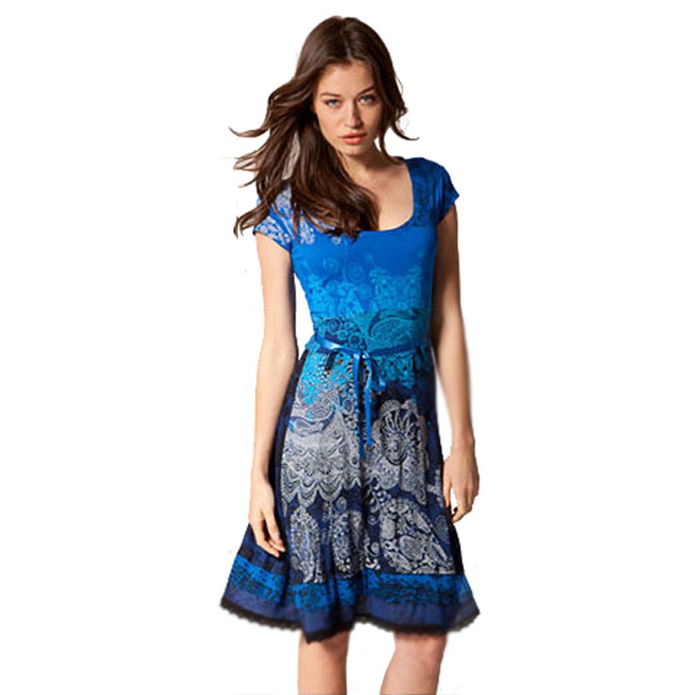 Robe desigual vest_tie 4 bleu